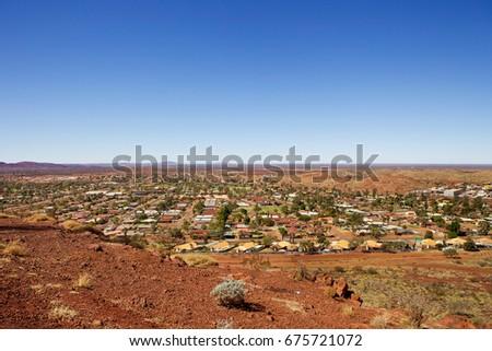 Newman, outback mining town in the Pilbara region of Western Australia. #675721072