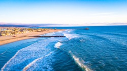 Newport Beach at Sunset Drone
