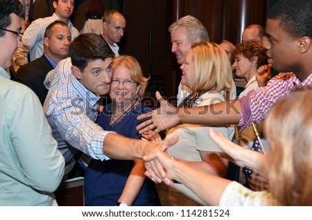 NEWPORT NEWS, VIRGINIA-SEPTEMBER 18: Congressman Paul Ryan, Republican Vice Presidential candidate at a rally held at Christopher Newport University in Newport News, Va. September 18, 2012