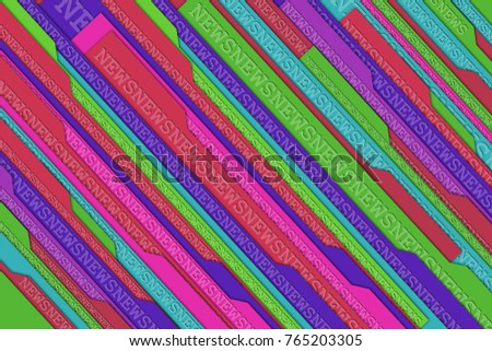 News abstract colorful background from the abstract tabs and words News.