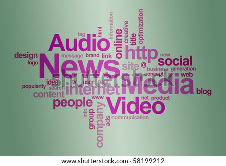 News and media â?? word cloud