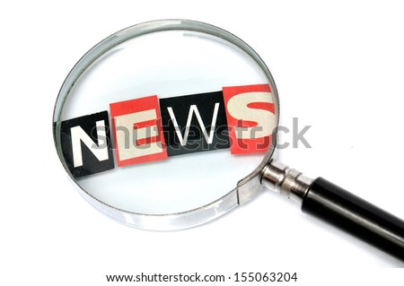 News behind a magnifying glass