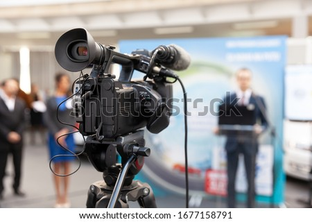 Photo of  News conference or press briefing