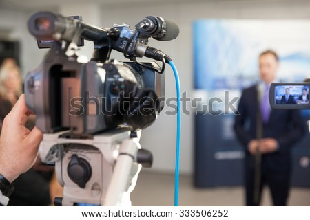 News conference. Spokesman.