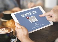News Newsletter Announcement Update Information Concept