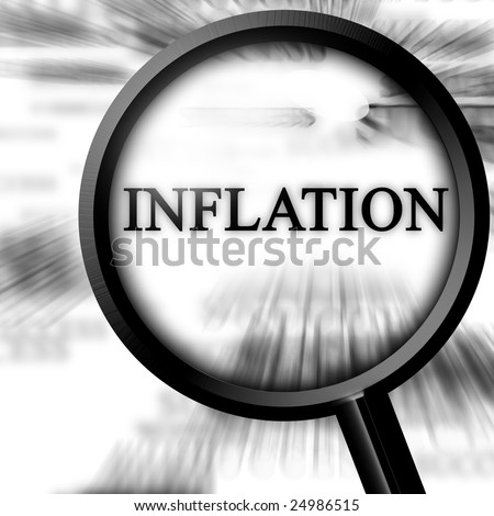 news paper ad with magnifier and inflation on it