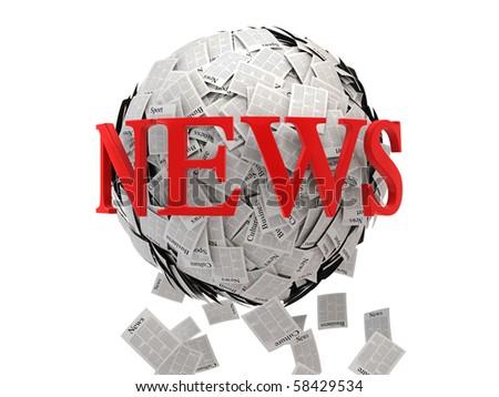 News sphere- print media concept