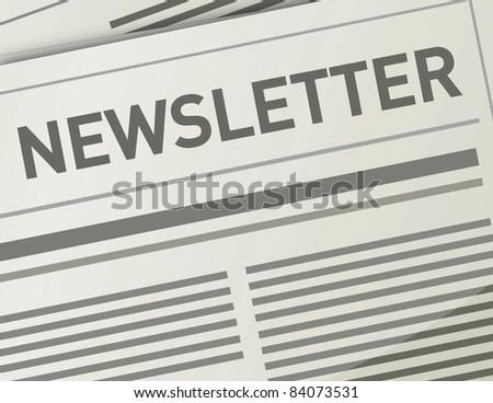 Newsletter illustration design paper