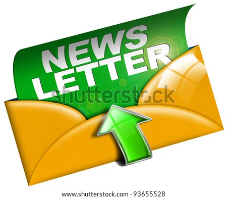 Newsletter marketing concept on white background