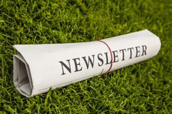 newsletter newspaper on a green meadow