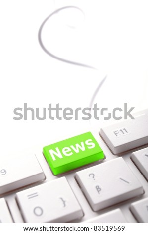 newsletter or news concept with word on key