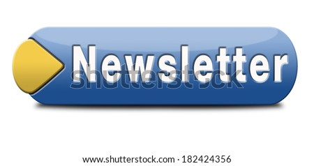 Newsletter with latest hot and breaking news. website Icon button or sign illustration.