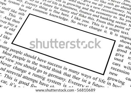 newspaper and copyspace for text message showing