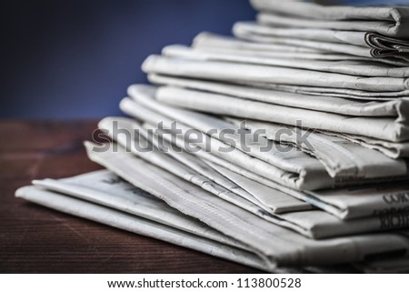 newspaper,document for information - stock photo