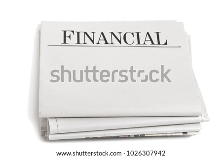 Newspaper Headlines Business Section #1026307942
