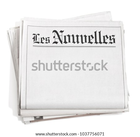 Newspaper headlines isolated on white #1037756071