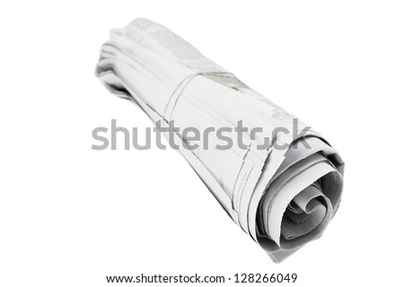 Newspaper isolated on plain background