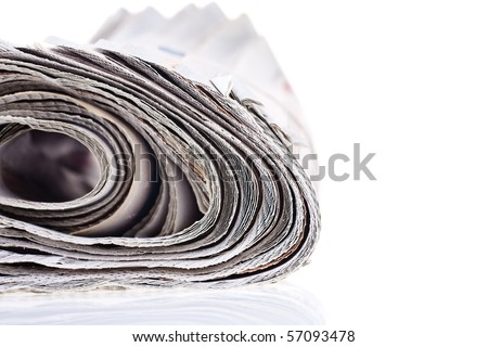 Newspaper isolated on white