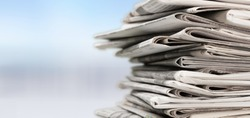 Newspaper, journalist, backgrounds.