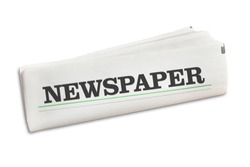 Newspaper newspaper folded isolated on a white background