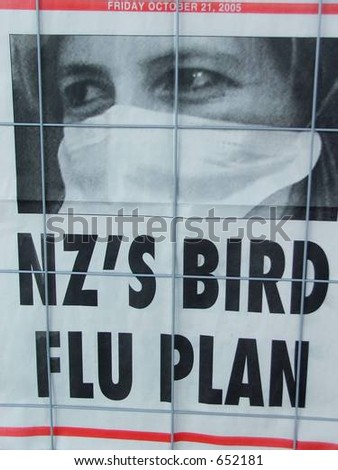 Newspaper placard headline