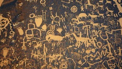Newspaper Rock State Historic Monument near Moab Utah