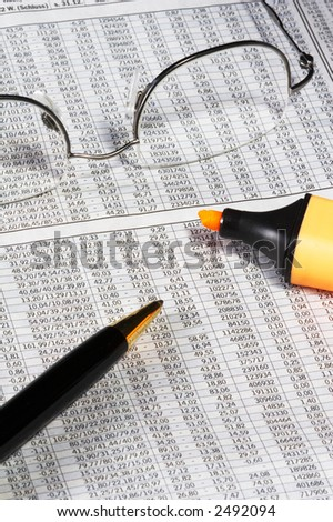 Newspaper with German Stock Market - stock photo
