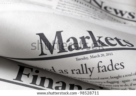Newspapers with shallow depth of field