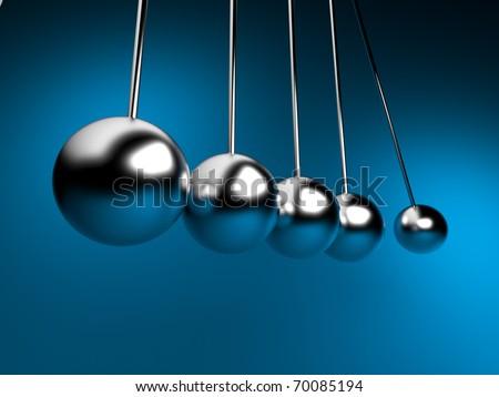newton cradle 3d balancing. pendulum