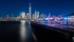 Newyork Manhattan skyline as seen from across the hudson river