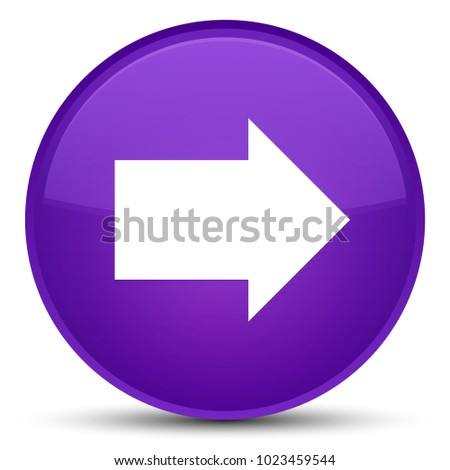 Next arrow icon isolated on special purple round button abstract illustration