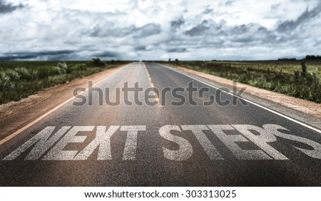 Next Steps written on rural