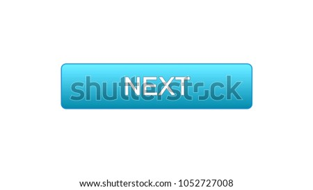 Next web interface button blue color, internet site design, online program