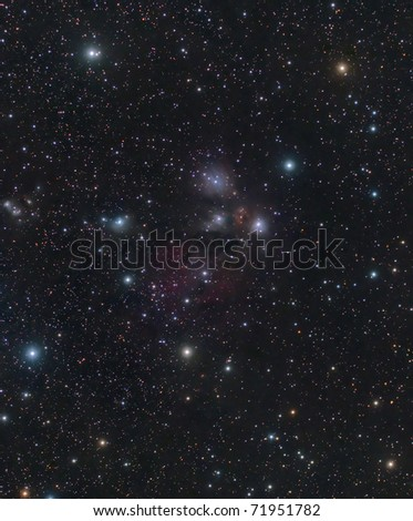 NGC 2170, A Reflection Nebula in the Constellation Monoceros