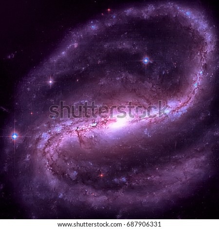 NGC 7479 also known as Caldwell 44 is a barred spiral galaxy about 105 million light-years away in the constellation Pegasus. Retouched image. Elements of this image furnished by NASA.