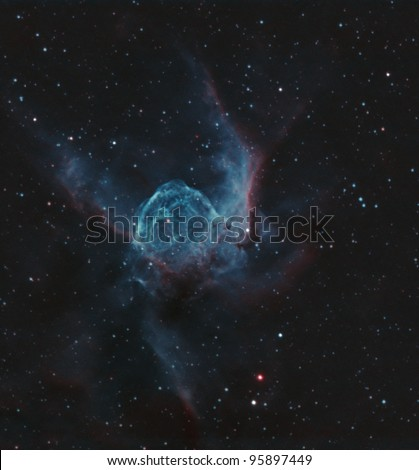 NGC 2359, also known as Thor's Helmet or the Duck Nebula, is an emission Nebula in Canis Major