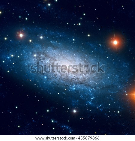 NGC 3621 is a field spiral galaxy in the constellation of Hydra (The Sea Snake). Retouched colored image. Elements of this image furnished by NASA.