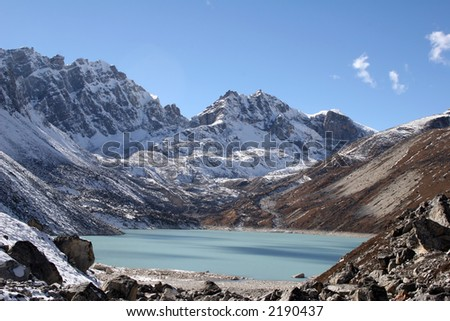 Ngozumba Tsho is Gokyo's 5th lake and a base camp for Mount Cho Oyo.