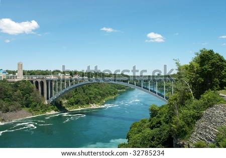Niagara fall - bridge to Canada