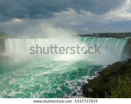 Niagara Falls Aerial View, Canadian Falls, Canada #1419727859