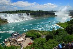 Niagara Falls, American and Canadian falls, US, Canada