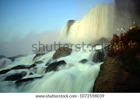 Niagara falls , American Falls - Horseshoe falls #1072598039