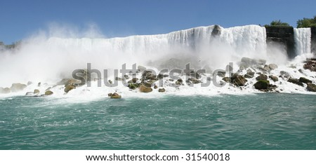 Niagara falls, American side view from Prospect Point