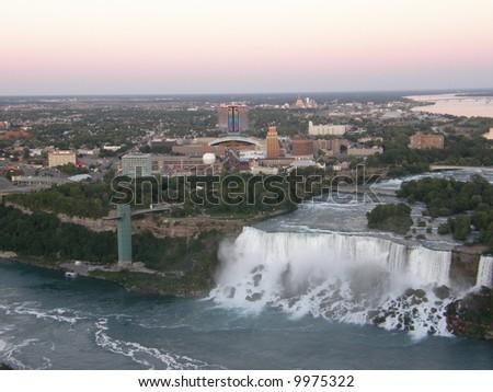 Canada America Border Niagara Falls Niagara Falls at The Border of