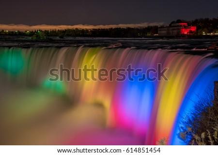 Niagara Falls, Canada at night #614851454
