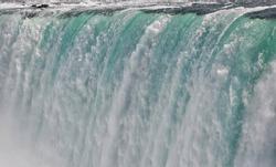 Niagara Falls Close Up of millions of gallons of foaming water. Ontario, Canada