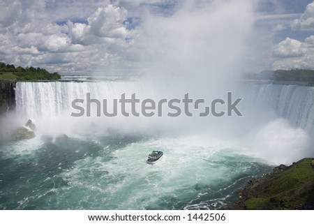 Niagara Falls, horse shoe fall, maid mist, Early Summer