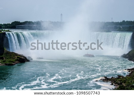 Niagara falls perspective #1098507743