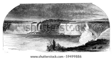 niagara falls seen from canada...