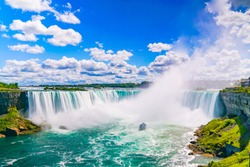 NIAGARA FALLS - The amazing Niagara Falls is renowned for its beauty and is the collective name for three waterfalls that straddle the international border between Canada and the USA.